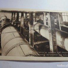 Postales: MAGNIFICA ANTIGUA POSTAL CEMENTOS FRADERA VALLCARCA (SITGES) HORNOS ROTATORIOS. Lote 190429880