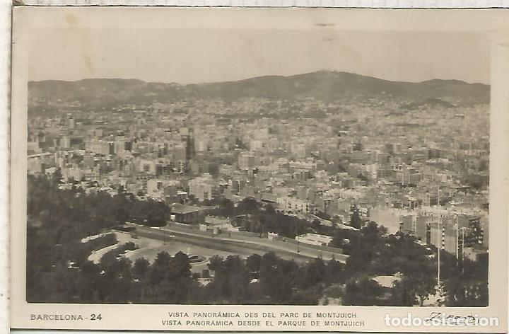BARCELONA VISTA ESCRITA (Postales - España - Cataluña Antigua (hasta 1939))