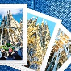Postales: LOTE DE 13 LÁMINAS DE LOS PRINCIPALES ICONOS DE BARCELONA. Lote 190736077
