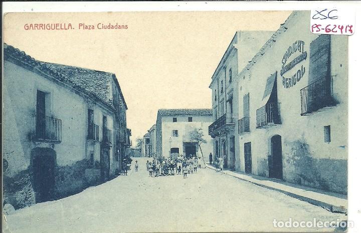 (PS-62417)POSTAL DE GARRIGUELLA-PLAZA CIUDADANS (Postales - España - Cataluña Antigua (hasta 1939))