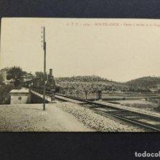 Postales: MONTBLANC-PUENTE Y MOLINO DE LA FARGA-TREN FERROCARRIL-ATV 4134-POSTAL ANTIGA-(66.389). Lote 191101107