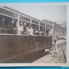 Postales: TREN RIBAS NURIA POSTAL FOTOGRÁFICA FERROCARRIL VAGÓN CIRCA 1920. Lote 191148707