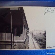 Postales: (PS-62543)POSTAL FOTOGRAFICA FERROCARRIL LINEA GERONA-ARCHIVO FAMILIA VALLET I ARMENGOL. Lote 191339187