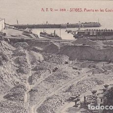 Postais: BARCELONA SITGES PUERTO EN LAS COSTAS DEL GARRAF ED. A.T.V. Nº 383. Lote 191488908