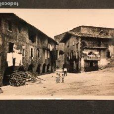 Postales: POSTAL DE SANTA PAU PLAZA MAYOR GIRONA. CIRCULADA. . Lote 191630208