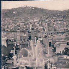 Postales: POSTAL BARCELONA - PARQUE DE MONTJUICH HACIA EL TIBIDABO - ZERKOWITZ 614 - CIRCULADA. Lote 191864133
