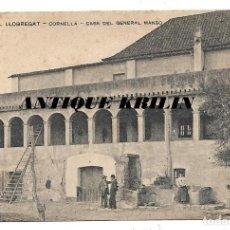 Cartoline: CORNELLA Nº 202 CASA GENERAL MANSO .- EDI. ENSEYANSA CATALANA . Lote 191902856