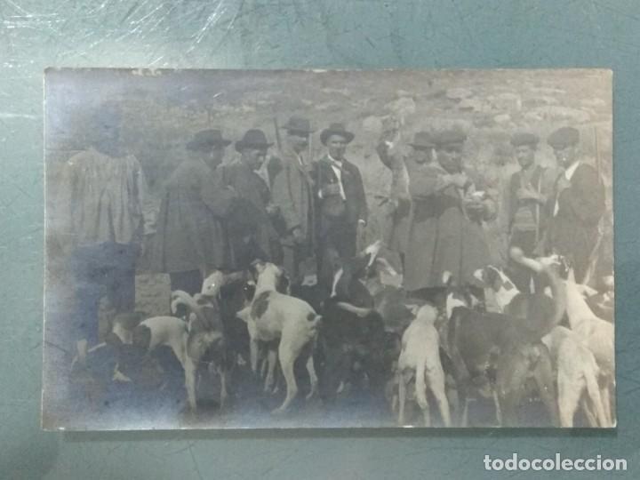 ANTIGUA POSTAL FOTOGRAFICA CACERIA. (Postales - España - Cataluña Antigua (hasta 1939))