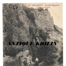 Postales: MASQUEFA Nº 10 FUENTE DEGOTALLS .- FOTO L. ROISIN . Lote 191932547
