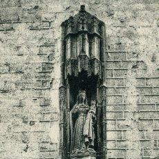 Postales: LERIDA - VIRGEN DE LA FACHADA DEL HOSPITAL MUNICIPAL . Lote 192178473
