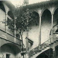 Postales: LERIDA - CLAUSTRO Y FUENTE DEL HOSPITAL CIVIL. Lote 192178735