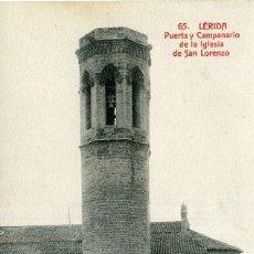 Postales: LERIDA - PUERTA Y CAMPANARIO. Lote 192179467