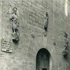 Postales: LERIDA - PUERTA DE LA IGLESIA DE SAN JAIME. Lote 192180101