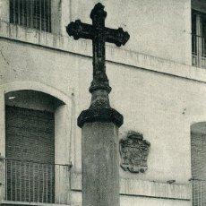 Postales: LERIDA - CRUZ DE LA PLAZA DE SAN LORENZO. Lote 192180283