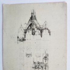 Postales: POSTAL BARCELONA CASA BATLO A GAUDÍ ARQUITECTURA. Lote 192343941