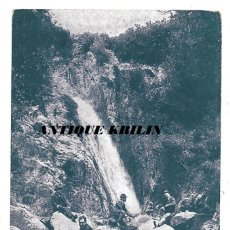 Postales: MONTSENY EL GORCH NEGRE .- PUBLICIDAD EDITORIAL LA BIBLIA DE CERVERA .- LA BIBLIA DEL PORVENIR. Lote 192627347