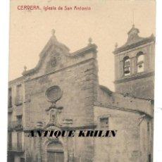 Postales: CERVERA .- IGLESIA DE SAN ANTONIO .- FOTOTIPIA THOMAS / LIBRERIA BATALLA . Lote 192637838