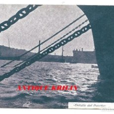Postales: BARCELONA DETALLE DEL PÙERTO .- PUBLICIDAD ALMACENES LA MARAVILLA DEL SIGLO , CERVERA . Lote 192677982