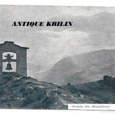 Postales: BERGADÁ ERMITA STA. MAGDALENA .- PUBLICIDAD LA MARAVILLA DEL SIGLO , CERVERA . Lote 192678230