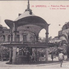 Postales: SABADELL (BARCELONA) - PABELLON PLAZA DEL DOCTOR ROBERT. Lote 192717183