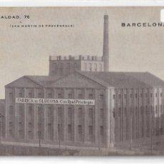 Postales: BARCELONA - FABRICA DE GLUCOSA - SANT MARTI DE PROVENÇALS - P27000. Lote 193644138
