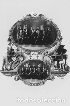 FOTO POSTAL COBLA LA PRINCIPAL DE LA BISBAL CATALUNYA GIRONA (Postales - España - Cataluña Antigua (hasta 1939))