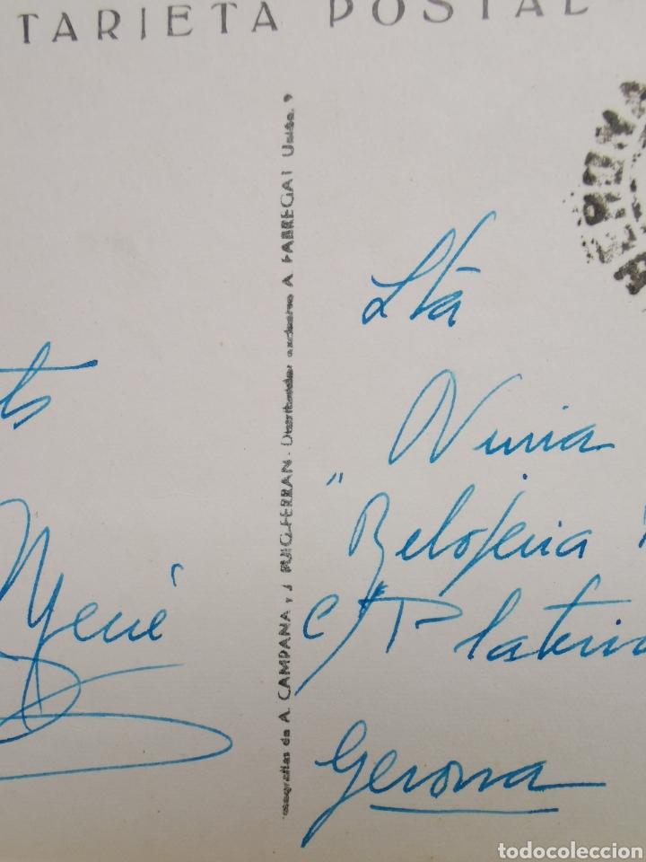 Postales: Postal LEscala, La Foradada. Costa Brava. Serie I nº2271 circulada en 1961 - Foto 3 - 194243505