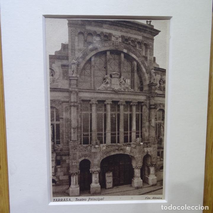 POSTAL DEL TEATRO PRINCIPAL DE TARRASA.FOTO ALTIMIRA.EDICIONES E. VERDAGUER.COMO NUEVA. (Postales - España - Cataluña Antigua (hasta 1939))