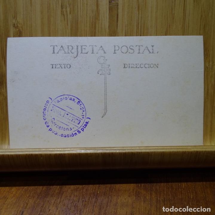 Postales: Foto-postal de teatro quemado en barcelona.foto mateo.derecho de publicación 5 pesetas. - Foto 2 - 194252622