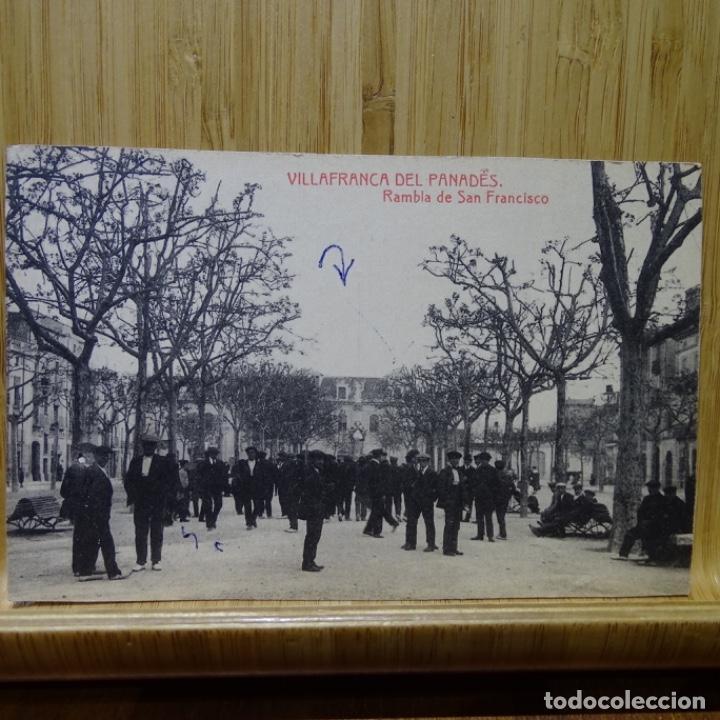 POSTAL DE VILAFRANCA DEL PENEDES.RAMBLA DE SAN FRANCISCO. (Postales - España - Cataluña Antigua (hasta 1939))