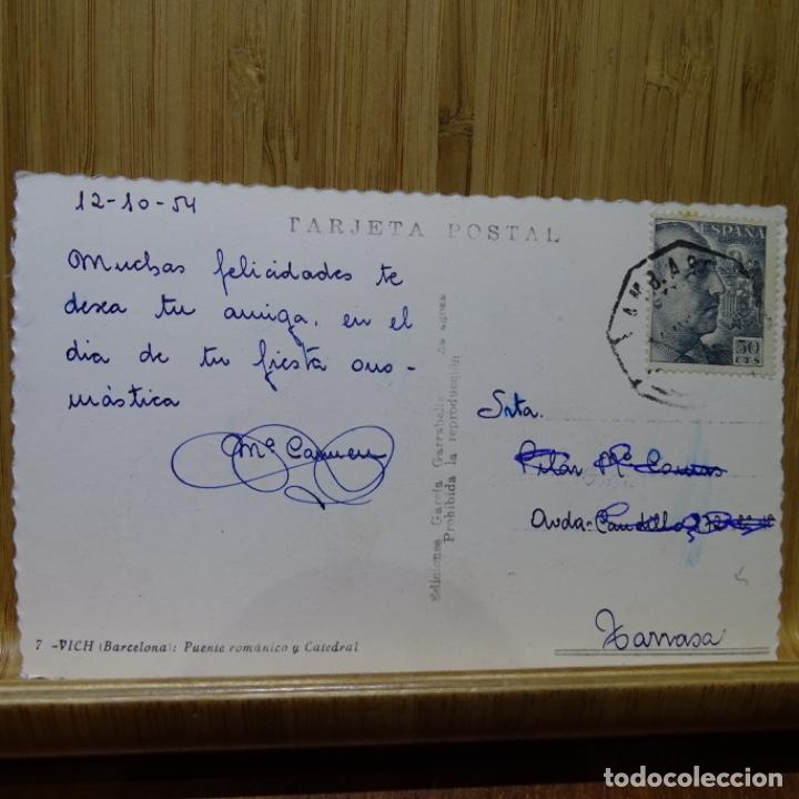 Postales: Postal de vich puente románico y catedral.7.garcia garrabella. - Foto 2 - 194253097