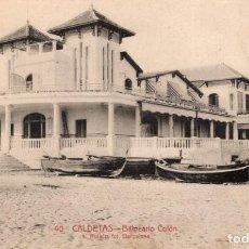 Postales: CALDETAS. 40 BALNERIO COLÓN. ROISIN. Lote 194280863