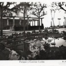Postales: CALDETAS. PARQUE Y CASINO COLÓN.VILAR. Lote 194281600