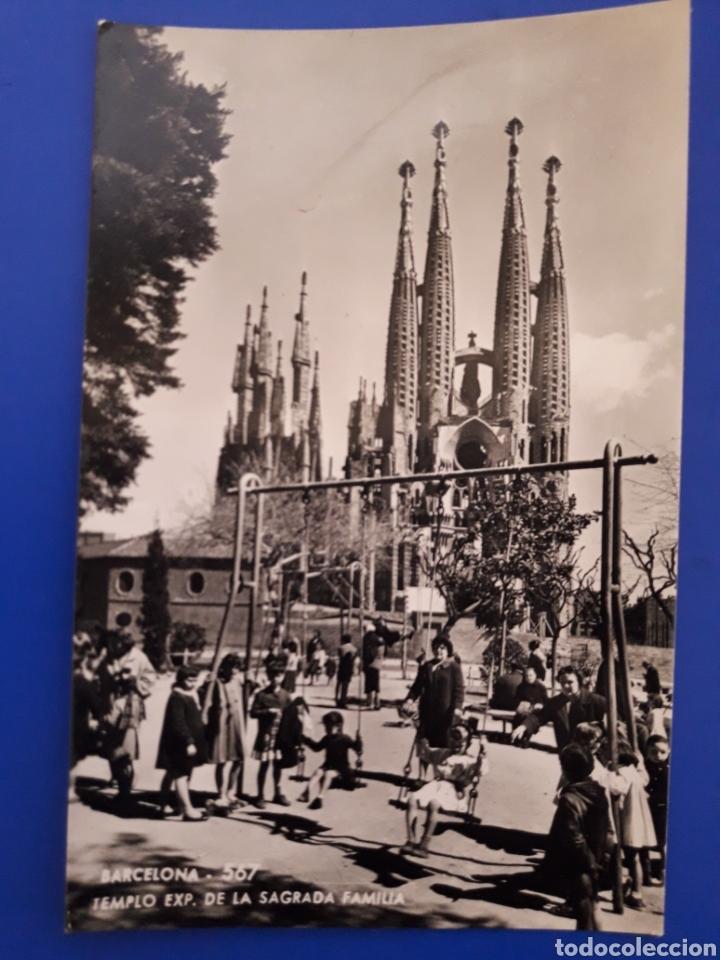ANTIGUA POSTAL DE BARCELONA SAGRADA FAMILIA (Postales - España - Cataluña Moderna (desde 1940))