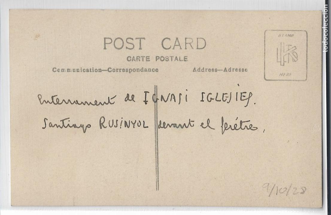 Postales: BARCELONA - ENTIERRO DE IGNASI IGLESIAS - SANTIAGO RUSIÑOL - P27091 - Foto 2 - 194355413