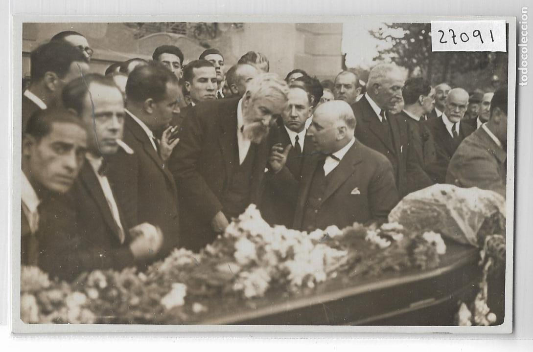 BARCELONA - ENTIERRO DE IGNASI IGLESIAS - SANTIAGO RUSIÑOL - P27091 (Postales - España - Cataluña Antigua (hasta 1939))