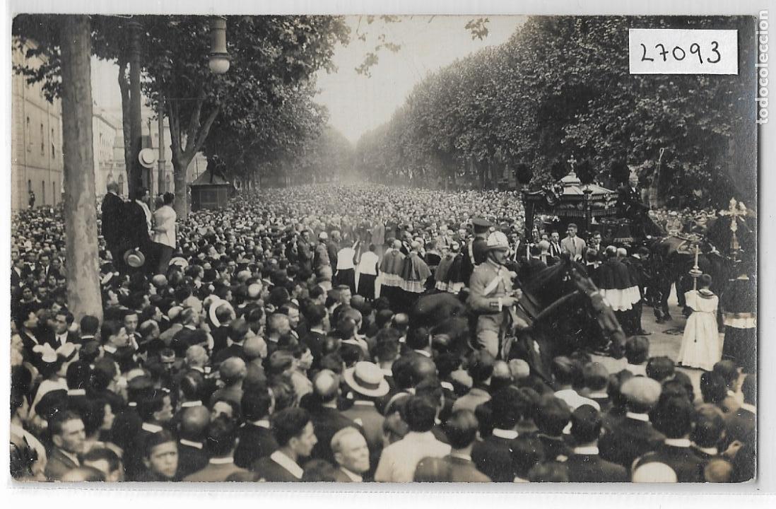 BARCELONA - ENTERRAMENT D'ÀNGEL GUIMERÀ - RAMBLES - P27093 (Postales - España - Cataluña Antigua (hasta 1939))