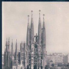 Postales: POSTAL BARCELONA - PLAZA Y TEMPLO DE LA SAGRADA FAMILIA - RODRIGUEZ - CIRCULADA. Lote 194367800