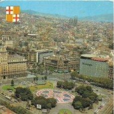 Postales: == P1740 - POSTAL - BARCELONA - PLAZA DE CATALUÑA - VISTA AEREA . Lote 194517595