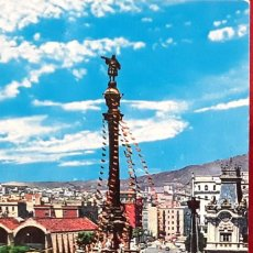 Postales: POSTAL BARCELONA.MONUMENTO COLÓN Y CARAVELA STA MARIA. SIN USAR.. Lote 194520586