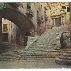 Postales: 2002 - GERONA.- PALACIO DEL VIZCONDADO Y FACHADA DE SAN MARTIN.. Lote 194595023