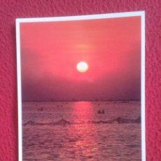 Postales: POSTAL POST CARD TARRAGONA DELTA DEL EBRO DE L´EBRE ATARDECER EN EL DELTA DARP, SILAGO VER FOTO...... Lote 194595418