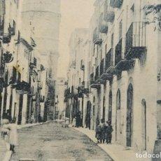 Postales: VILANOVA I GELTRU-TORRE DE LA IGLESIA DE SAN ANTONIO-REVERSO SIN DIVIDIR-POSTAL ANTIGUA-(67.789). Lote 194620503