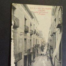 Postales: VILANOVA I GELTRU-CALLES DE COMERCIO Y PROGRESO-ATV 1937-POSTAL ANTIGUA-(67.791). Lote 194620863