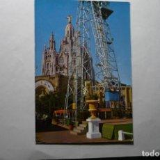 Postales: PÒSTAL BARCELONA TEMPLO SGDO.CORAZON -TIBIDABO PARQUE ATRACCIONES CM. Lote 194645646