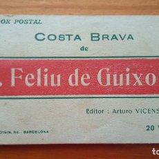 Postales: COSTA BRAVA (GIRONA) BLOK Nº 1. S. FELIU DE GUIXOLS. FOTOGRAFÍA L. ROISIN-BARCELONA. 20 VISTAS.. Lote 194690038