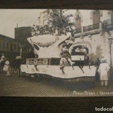 Postales: BARCELONA-1ER PREMIO CARNAVAL 1915-PUBLICIDAD CANALONES PAVO REAL-POSTAL FOTOGRAFICA ANTIGUA(67.864). Lote 194721815