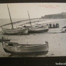 Postales: LLORET DE MAR-PLATJA-6-ROISIN-POSTAL ANTIGUA-(67.866). Lote 194721960