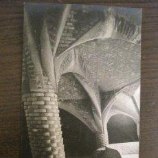 Postales: BARCELONA-GAUDI-CRIPTA DE LA COLONIA GÜELL-POSTAL FOTOGRAFICA ANTIGUA-(67.874). Lote 194722941