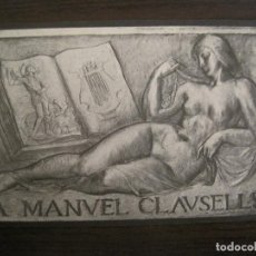 Postales: BARCELONA-HOMENATGE A MANUEL CLAUSELLS-ANY 1932-POSTAL ANTIGUA-VER FOTOS-(67.901). Lote 194729273